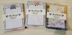 Floral Boutique stationary collection 3 packs of 80 sheets each z3 $12.99