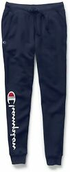 Champion Women#x27;s Powerblend Jogger Athletic Navy Champion Graphic Size 1.0 $13.17
