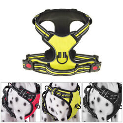 New No Pull Pet Dog Harness Vest Adjustable Outdoor Reflective Easy Control $11.86