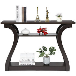 47quot; Console Table with Drawer and 2 Shelves Narrow Sofa Side Table for Entryway $94.99