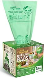 Food Scrap Small Kitchen Trash Compostable Bags 2.6 Gallon 9.84 Liter 100 Count $18.97