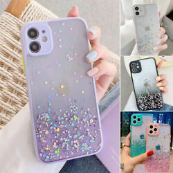 Glitter Powder Shockproof Case For iPhone 12 11 Pro XR XS Max 8 7 Plus SE Cover $6.99