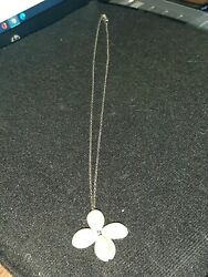 Vintage Sterling Necklace with a Seashell Pendant $8.00