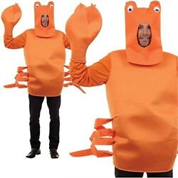 Crab Costume Mens Ladies Novelty Under The Sea Stag Party Fancy Dress New $45.57