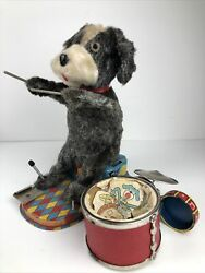 1950#x27;s Alps Dandy Happy Drumming Dog Battery Operated Toy As Is Parts $29.99