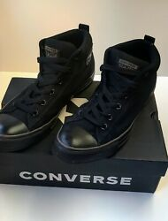 Converse All Star Mens Size 11 Shoes Street Mid Casual Sneakers Black 138465F $43.00
