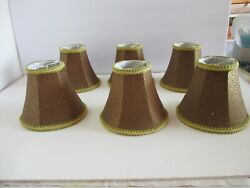 Mini Chandelier Shades in Bell shape 6 . REDUCED $20.00