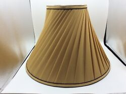 Pleated Swirl Fabric Lined Table Lamp Bell Shaped Lamp Shade Spider Fitter $23.99