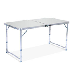 Folding Table Portable Plastic Indoor Outdoor BBQ Picnic Party Camping Table $30.20