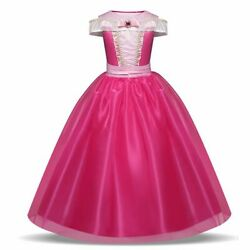 Girls Party Dresses Sleeveless Dresses Lace Crystal Princess Ball Gown $32.11