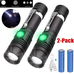 2PACK 20000lm LED Flashlight Rechargeable USB T6 LED Torch Light Battery $13.59