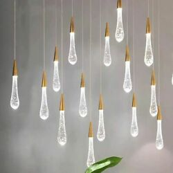 Hanging Lamps Pendant Light Glass Stone Ceiling Fixtures Decorative Lighting New $58.49