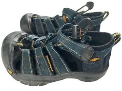 Keen Waterproof Boys Blue Sandals Shoes Size US 9 Adjustable Strap Closed Toe $22.00