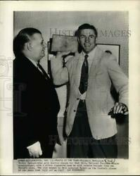 1947 Press Photo Doak Walker demonstrates grid passing stance for Bert Bell $14.66