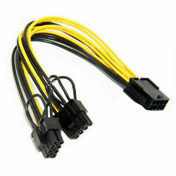 10X 18AWG PCI 8pin to Dual 8pin 62pin GPU Video Card Power Cable 20CM TOSA $23.99