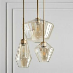 Nordic Glass Pendant Lights Ceiling Fixtures LED Hanging Lamp Modern Decorations $193.99