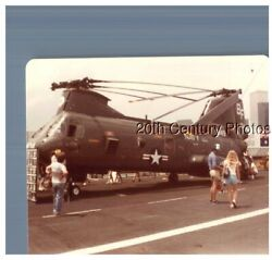 FOUND COLOR PHOTO F 7845 VIEW OF LARGE HELICOPTER $6.98