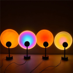 Projection Sunset Light with 180° Rotatable USB Charging Rainbow Modern Lamps $18.99