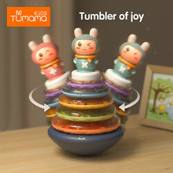 Stacking Rings Toy Rainbow Stacker Toddler Learning Toys for Baby Boys Girls $33.43