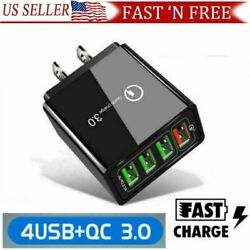 2 PACK 4 Port Fast Quick Charge 3.0 Wall Charger USB Power Adapter US Plug USA $8.99