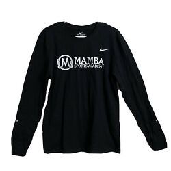Nike Kobe Bryant Mamba Sports Academy Black Long Sleeve T shirt Large Dri Fit