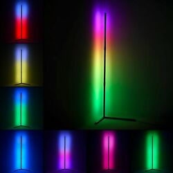 Vertical Floor Lamp LED RGB Floor Light 1.3m Indoor Lamp Dimmable Remote Control $79.99