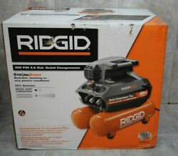 NEW Ridgid OF45200SS 4.5 Gal Portable Electric Quiet Air Compressor $319.95