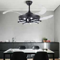 NEW Ceiling Chandelier with Fan 42 Inch 4 Retractable Blades Remote Control US $158.00