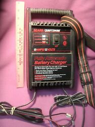 Sears Craftsman Portable Battery Charger Mod # 31014 12V 10A Status Lights $39.99