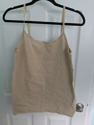 NWOTApt. 9 Essentials Plus Women#x27;s Tan Nylon Spandex Camisole Tank Top Size 2x $8.39
