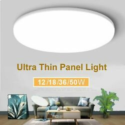 50W Cool Warm LED Ceiling Light Ultra Thin Flush Mount Kitchen Home Lamp Fixture