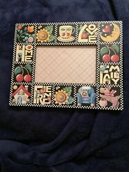 Mary Engelbreit Picture Photo Frame *LOVE*HOME*FAMILY*FRIEND ©2000 RARE $19.99