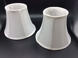 2 Bell Lamp Shades White Fabric $14.99