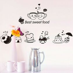 Wall Kitchen Stickers Art Decal Decoration E Wallpapers Coffee Sweet Food $5.13