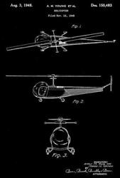 1948 Helicopter A. M. Young Patent Art Magnet $8.99