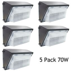 LED Wall Pack Lights Repalces 400W HPS HID 5Pack 70W Outdoor Commercial Lighting