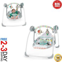 Baby Swing Portable cradle infant bouncer rocker sway toddler chair rocking seat $59.99