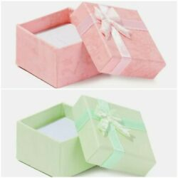 Green Or Pink Mini Ring Box With Bow Top 1.57 Inch $5.95