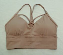 Jed North Womens Med Support Strap Detail Impact Sports Bra DG4 Nude Size XS NWT $13.99