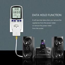 Power Consumption Meter UK Plug Electricity Energy Monitor Watt 3 Pin S1V4 $16.78