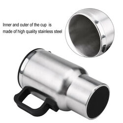 450ml 12V Electric In car Stainless Steel Travel Heating Cup Coffee Mug Car Cup $17.59