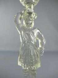 Antique Holder Candle French Glass With Statue Man Period Xx Century $57.69