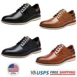 Mens Dress Shoes Lace up Casual Shoes Daily Wear Oxford Shoes Size US 6.5 13 $27.54