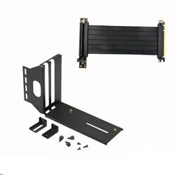Universal Portable GPU Vertical Bracket Holder with Pci E X16 Riser Cable Kits $47.09