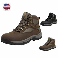 US Men#x27;s Waterproof Advanced Hiking Boots Mid Ankle Leather Hiker Work Boots $49.68