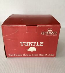 QUOIZEL HANDMADE STAINED GLASS TURTLE TABLE LAMP BRASS TIFFANY STYLE TF6563R NIB $59.95