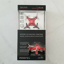 Propel Atom 1.0 Micro Drone Wireless Indoor Outdoor Quadrocopter Red $12.00