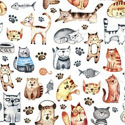 2 Two Paper Lunch Napkins for Decoupage Mixed Media Pet Cats $1.90