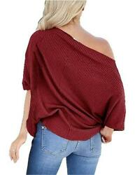 Junior Tops Cute Shirts for Women Off Shoulder Top 01 burgundy Size Small TvcK