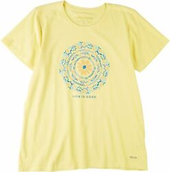 Life Is Good Womens Flower Of Power Crusher T Shirt $28.00